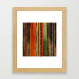 Boho Stripes Framed Art Print
