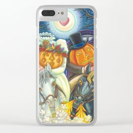 SLEEPY HOLLOW WEDDING - Brack Headless Horseman Halloween Art Clear iPhone Case