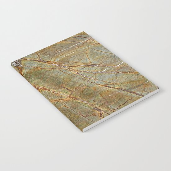 Forest Green Marble Notebook