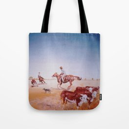 Rousting the Cattle, AUSTRALIA         by Kay Lipton Tote Bag