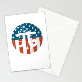American Pi day 3-14 Patriotic Math 3.14 Stationery Cards