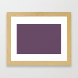 Pratt and Lambert 2019 Amethyst Purple 30-15 Solid Color Framed Art Print