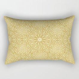 Rings of Flowers - Color: Naples Ochre Rectangular Pillow