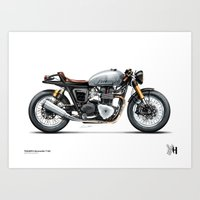 moto Art Prints featuring Moto 33 by Holographic Hammer