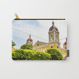 View of Granada Cathedral at the Center of Parque Central De Granada in Nicaragua Carry-All Pouch