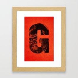 G is for Gorilla Framed Art Print