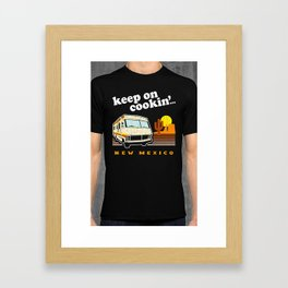 Keep on Cookin' (vintage distressed look) Framed Art Print