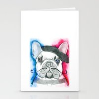 frenchie Stationery Cards featuring Frenchie by Irasema Langarica