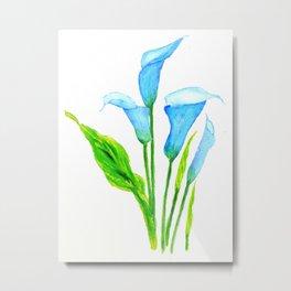 blue calla lily 2 Metal Print
