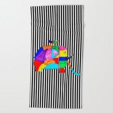 Rainbow Elephant by Elisavet | #society6 Beach Towel