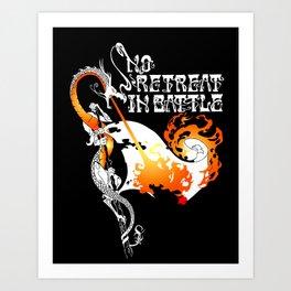 No Retreat in Battle Art Print