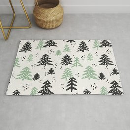 Christmas Tree Pattern – Mint & Black Rug