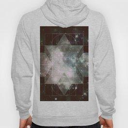 Galaxy Sacred Geometry: Dark Rhombic Hexecontahedron Hoody