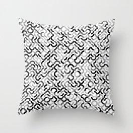 Rotated Arcs 01, Seed 7/90 Throw Pillow