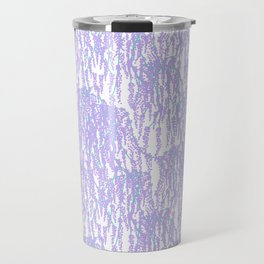 Cascading Wisteria in Lilac + White Travel Mug