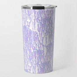 Cascading Wisteria in Lilac + White Travel Mug