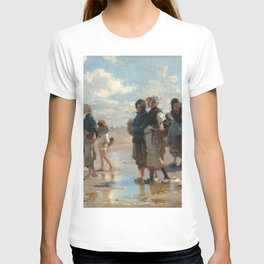 Setting Out to Fish Oil Painting by John Singer Sargent T-shirt