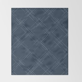 Cross Hatch in Blue Throw Blanket