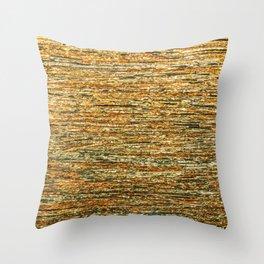 Abstract Geometric Gold Silver Glitter Modern Pattern Throw Pillow