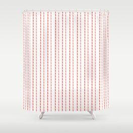 Pink Stitches Shower Curtain