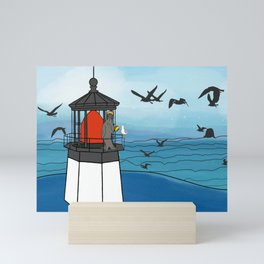 Tuskadero Slim at his home in the Cape Meares Lighthouse from Flock of Gerrys Gerry Loves Tacos Mini Art Print