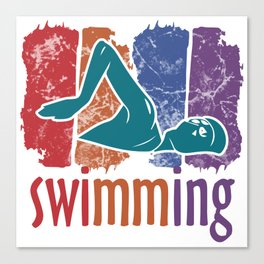 swimming lifeguard baywatch swimmer gift crawl pool lake Canvas Print