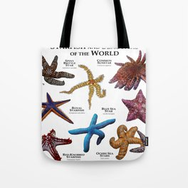 Starfish and Seastars of the World Tote Bag