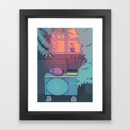 Ramune Cat Framed Art Print