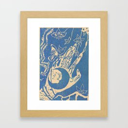 Show me how to live in blue Framed Art Print