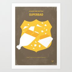 No315 My Superbad minimal movie poster Art Print