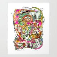 Artsy Lines Art Print
