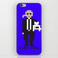 karl lagerfeld iPhone & iPod Skins featuring 8 Bit Karl by 8 Bit Icons