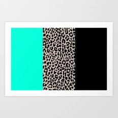Leopard National Flag VII Art Print