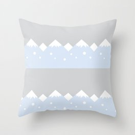 snow mountains baby room Throw Pillow