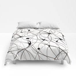 Abstraction lines Comforters