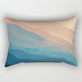 Blue Waves In Desert Peaks Rectangular Pillow
