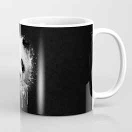 Cool Abstract Graffiti Watercolor Panda Portrait in Black & White  Coffee Mug