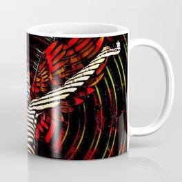 0395s-PDJ Sensual Angel with Red Wings Woman Empowered as Succubus Coffee Mug