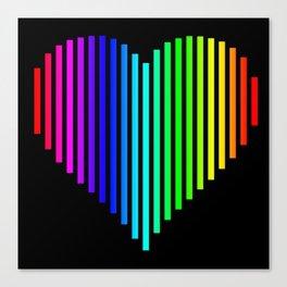 Techno Love Heart Canvas Print