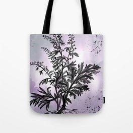Wormwood Botanical Illustration Tote Bag