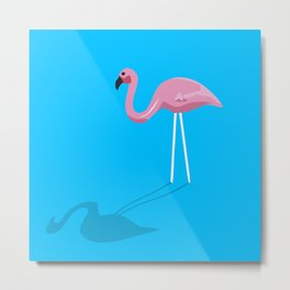 Mr. Flamingo Metal Print