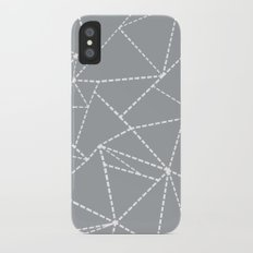 Abstract Dotted Lines Grey iPhone X Slim Case