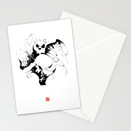 Panda fighting Stationery Cards