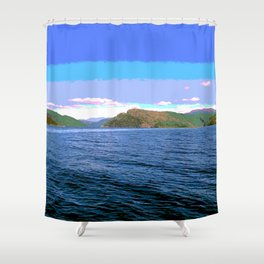 Fiord norway Shower Curtain