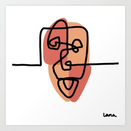 Peach Face I Art Print