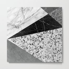 Marble and Granite Abstract Metal Print