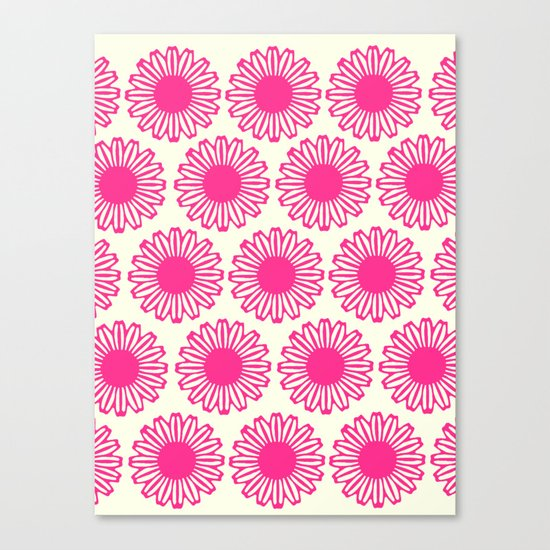 vintage flowers pink  Canvas Print