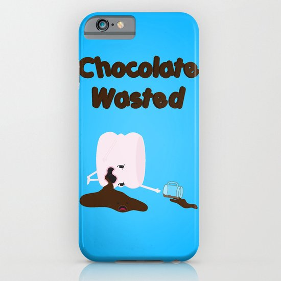 Chocolate Wasted (blue) iPhone & iPod Case