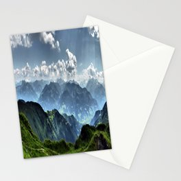 Mountain Peaks in Austria Stationery Cards