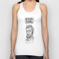 lincoln Tank Tops featuring Damn, Lincoln by dellydel